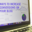 5 Ways To Increase Conversions On Your Blog
