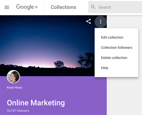 new google plus featured collections editing features