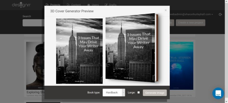 add a 3d cover to your designrr project