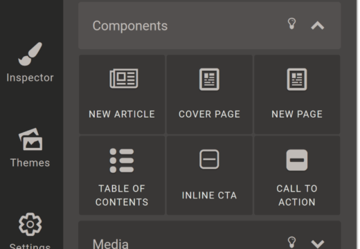 designrr elements toolbar