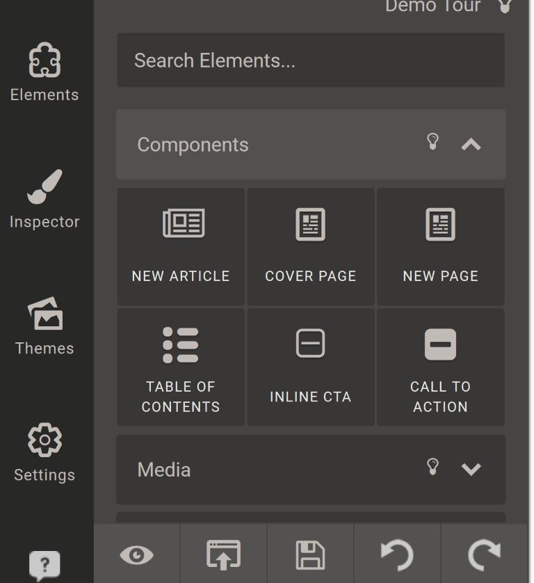 designrr elements toolbar