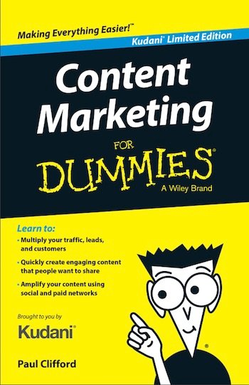 content marketing for dummies book cover