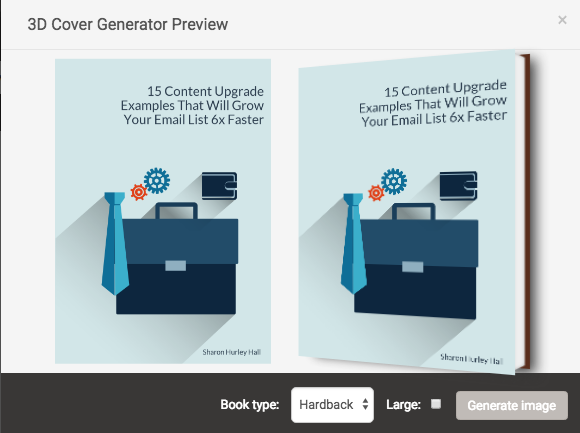 how to make an ebook - 3d cover generator in designrr