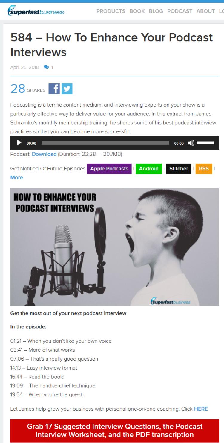 podcast show notes pdf