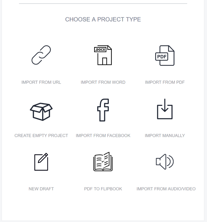 designrr choose project
