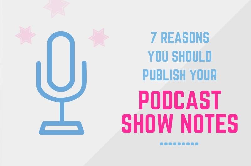 publish podcast show notes