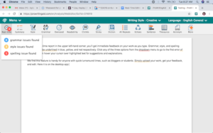 web editor screenshot of proofreading software Prowritingaid