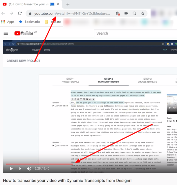 how to timestamp youtube video