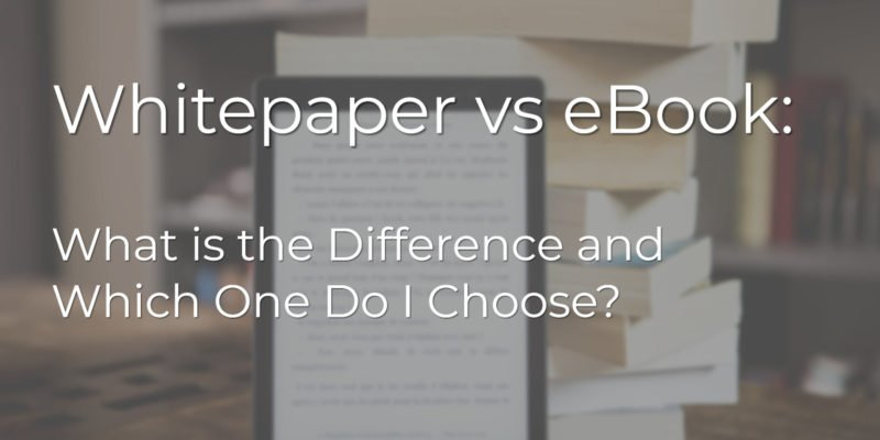 whitepaper vs ebook