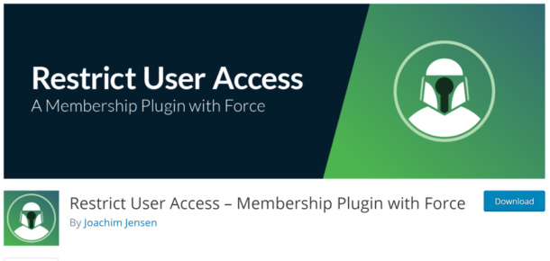 Restrict User Access plugin