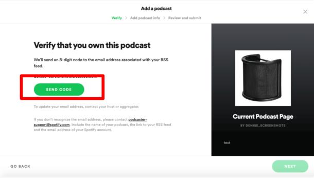 verify ownershop podcast spotify