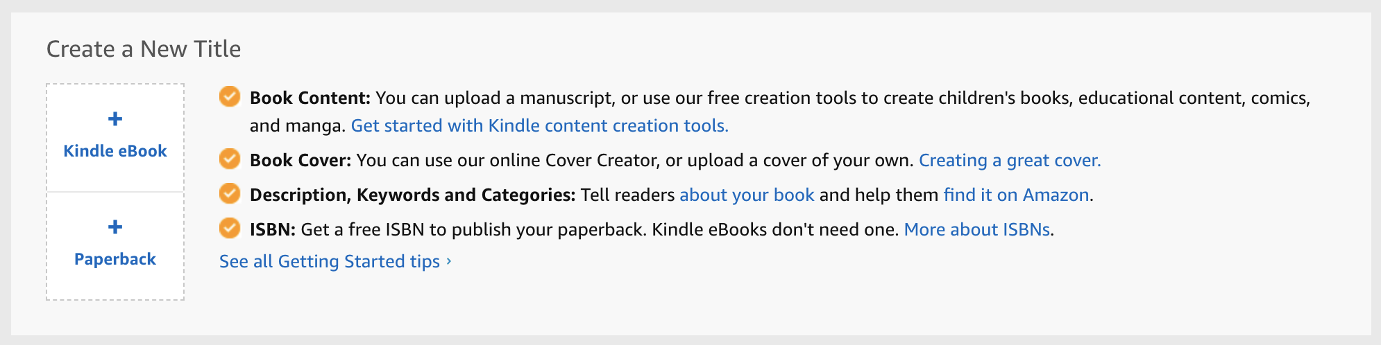 create a new title on amazon